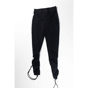 NEW Zara Black Stretch Gathered Ruched Ankle Pants